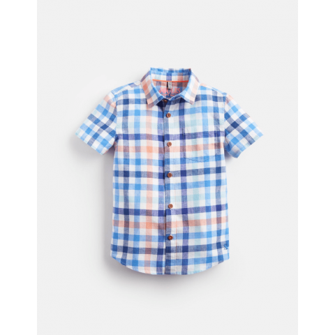 Joules Boys Sark Short Sleeved Check Shirt