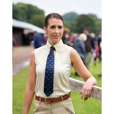 Shires Ladies Sleeveless Tie Shirt
