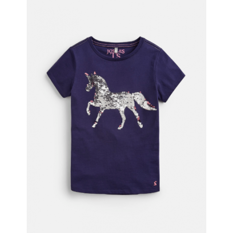 Joules Girls Astra Applique Jersey Top
