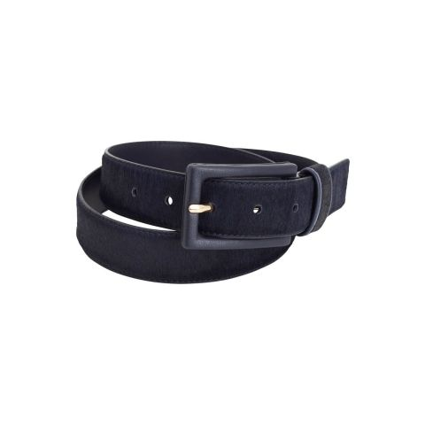 Montar Blue Haircalf Leather Belt
