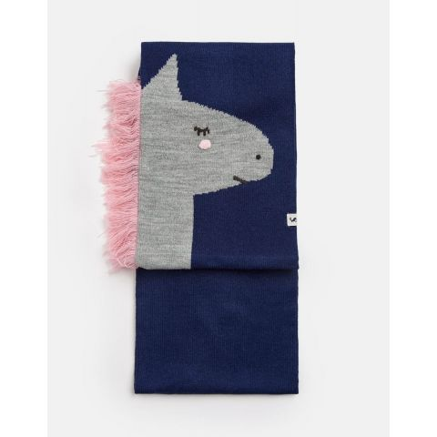 Joules Girls Chummy Knitted Character Scarf