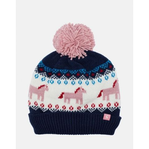 Joules Girls Fallbury Knitted Hat
