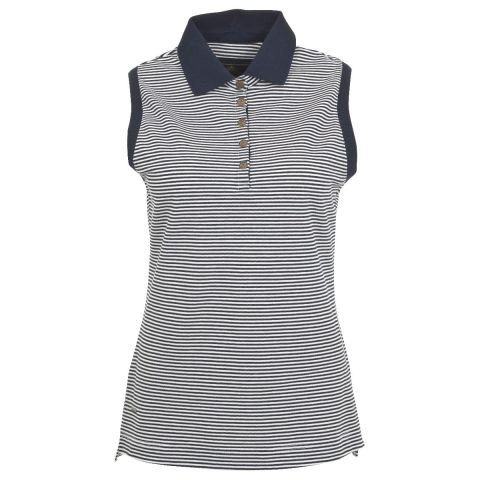 Toggi Ladies Magdelena Striped Sleeveless Pique Polo Shirt