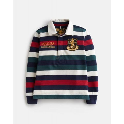 Joules Boys Winner Striped Rugby Top
