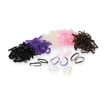 Shires Silicone Plaiting Bands