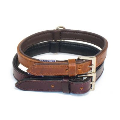 Ancol Vintage Leather Padded Dog Collar