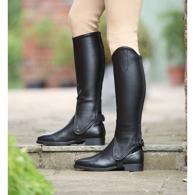 Shires Childrens Synthetic Leather Gaiters