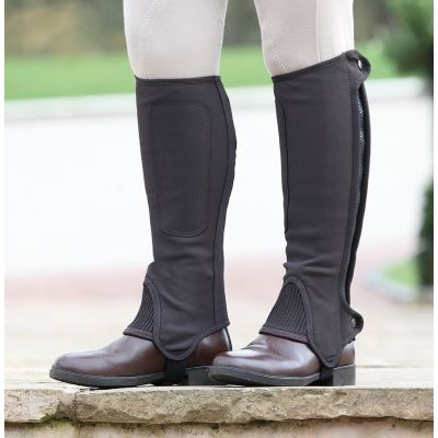 Shires Childrens Synthetic Nubuck Half Chaps