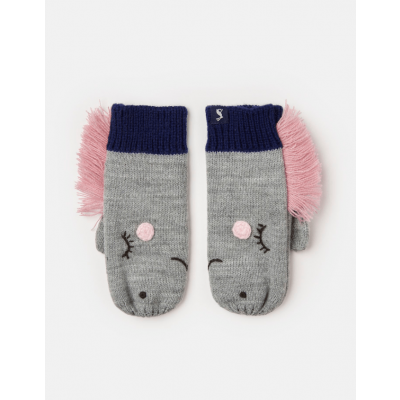 Joules Girls Chummy Knitted Character Mittens