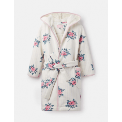 Joules Girls Idlewhile Fleece Lined Dressing Gown